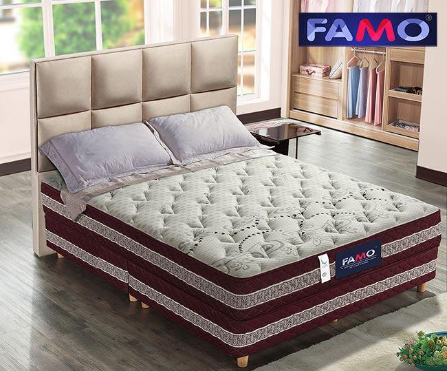 法國FAMO二線 護背 硬式床墊 天絲棉+針織+乳膠麵包床