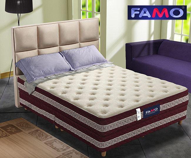 法國FAMO二線 背柔 硬式床墊 涼感紗+乳膠+蠶絲麵包床雙人5尺,床墊,獨立筒,FAMO,麵包床,雙人床墊,乳膠墊,保潔墊